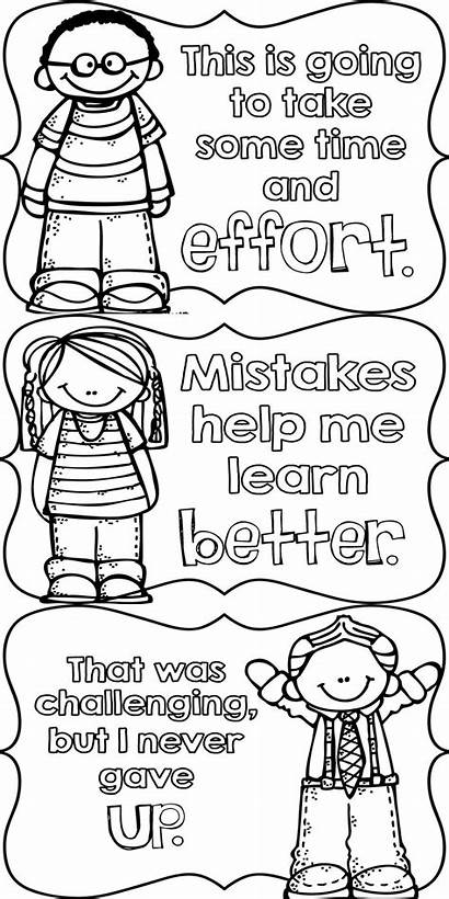 Mindset Growth Coloring Pages Posters Quotes Students
