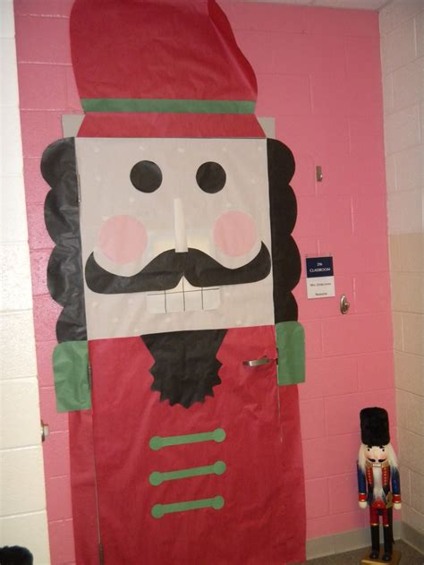 classroom door decoration for christmas nutcracker door