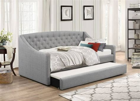 Flair Furnishings Aurora Grey Fabric Day Bed With Trundle