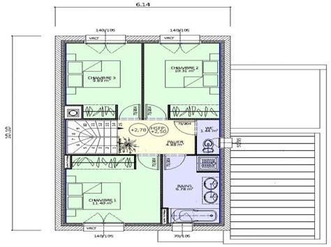 plan maison à étage 3 chambres construction maison neuve hévéa lamotte maisons