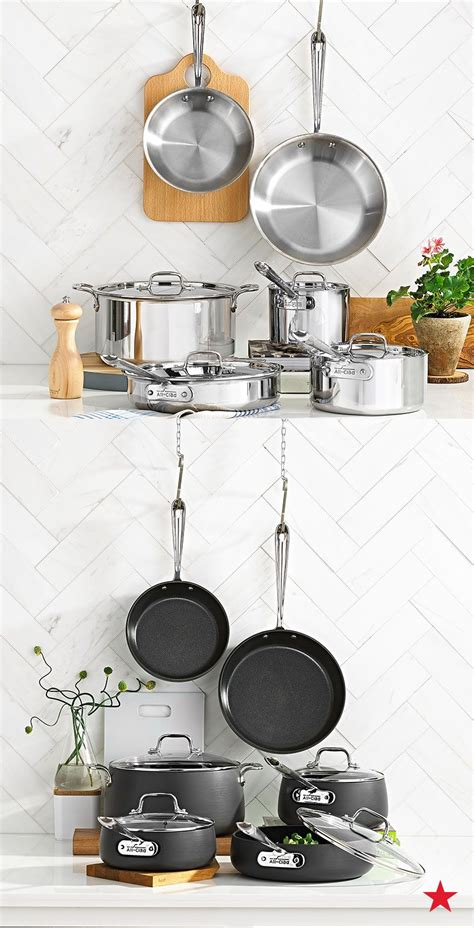 cookware pots finishes chef long lasting pans ware www1 macys notch clad sets quality kitchen