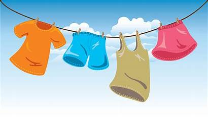 Washing Clothes Hanging Line Clipart Hang Vector