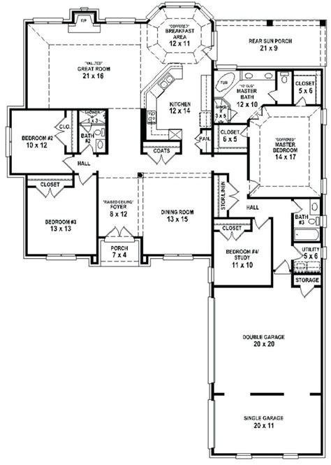 4 bedroom 2 bath house plans home design 1 4 bedroom 3 bath house plans floor 2