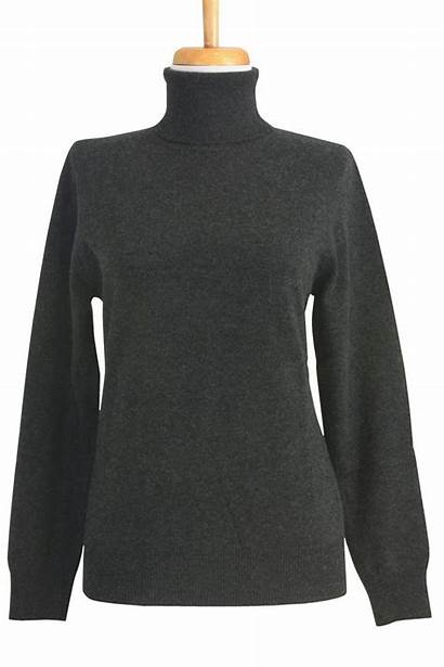 Sweater Turtleneck Cashmere Grey Charcoal Womens Turtle