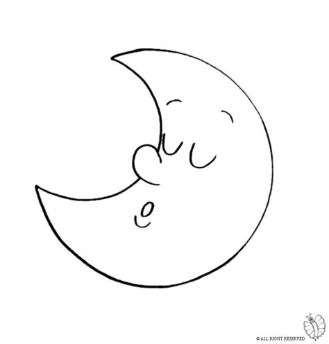 Moon Coloring Page - Coloring Pages Ideas & Reviews