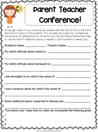 questions to ask at parent teacher conference preschool teaching in paradise parent conferences 898