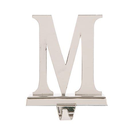 glitzhome handcrafted monogram silver iron christmas stocking holder letter  walmartcom
