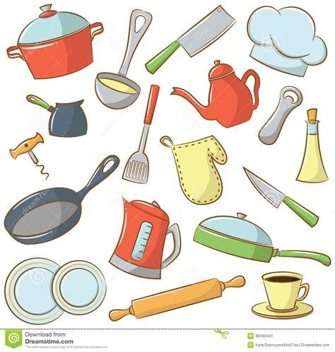 vaisselle de cuisine icônes de vaisselle de cuisine illustration de vecteur