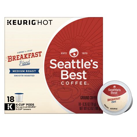 Coffee pods variety pack sampler, assorted single serve coffee for keurig k cups coffee makers, 40 unique cups. Seattle's Best Coffee Breakfast Blend Medium Roast Single Cup Coffee for Keurig Brewers, Box of ...