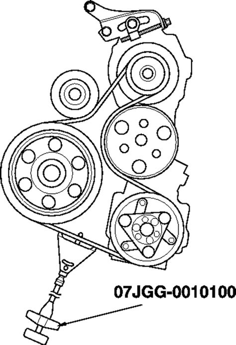 honda fit  serpentine belt diagram