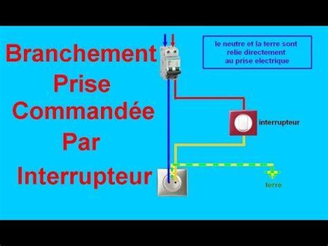 branchement electrique d une le schema branchement cablage prise command 233 e par interrupteur