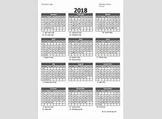 Fiscal Year Week Calendar 2018 – 2018 Calendar Template