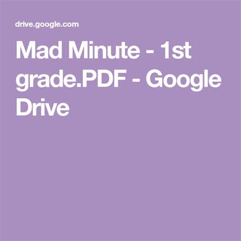 mad minute st gradepdf google drive  images