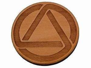 AA Circle and Triangle Token | Alcoholics Anonymous Coins ...