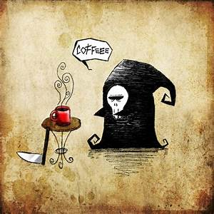 Death Needs Coffee Popcorn Horror