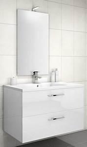 Meuble Sous Vasque Blanc : meuble sous vasque loft 2 tiroirs de 90 cm discac ~ Teatrodelosmanantiales.com Idées de Décoration