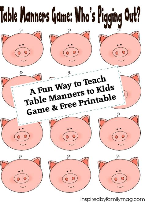 table manners for kids a fun way to teach table manners to kids free printable