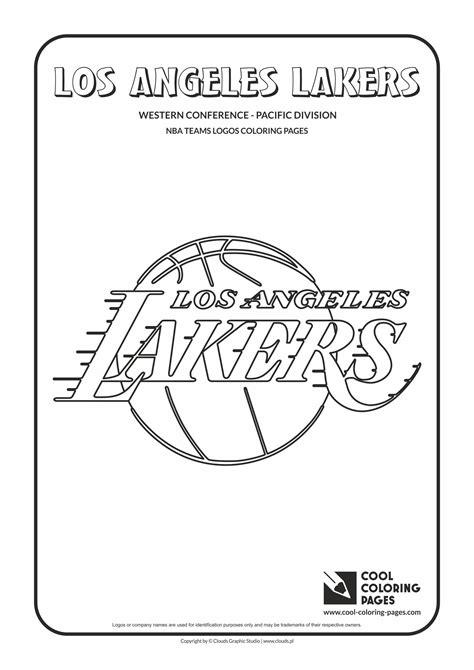 Gambar Los Angeles Lakers Nba Coloring Pages Basketball Di