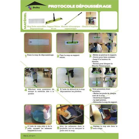 protocole nettoyage bureau mop microfibre 135 cm pour balayage à plat des sols