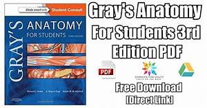 Gray U0026 39 S Anatomy For Students 3rd Edition Pdf Free Download