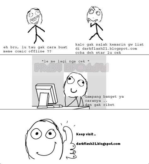 Cara Buat Meme Comic - cara mudah membuat meme comic offline dengan rage maker dark flash