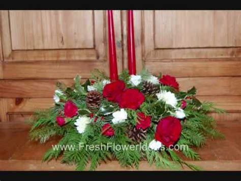 fresh christmas centerpieces how to make a centerpiece with fresh flowers