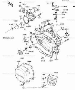 Kawasaki Motorcycle 1986 Oem Parts Diagram For Engine Covers  Water Pump