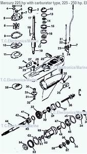 Mercury Outboard Parts Drawing 3 Liter 200 Dfi