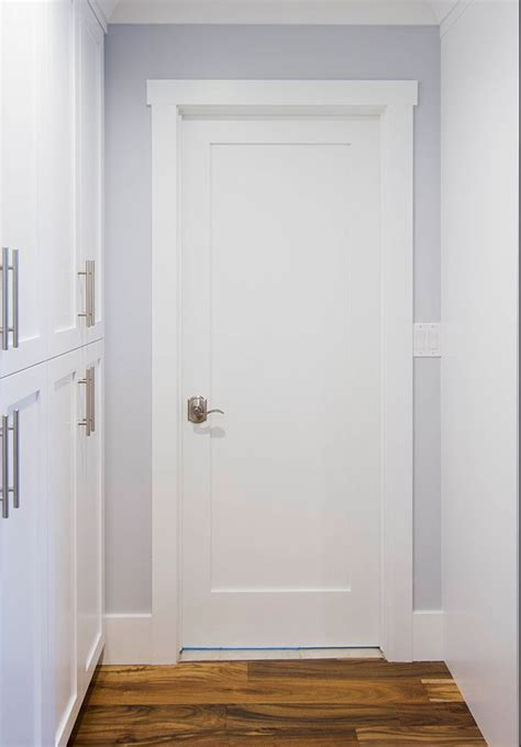 shaker style doors primed white solid 1 panel shaker mission style