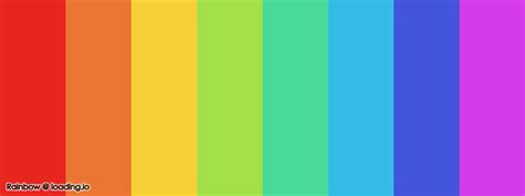 color palette  rainbow loadingio