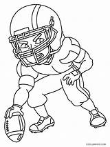 Coloring Football Pages Player sketch template