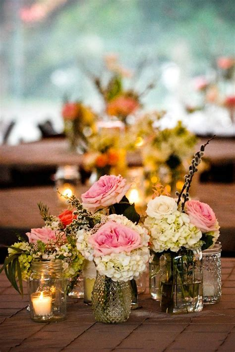 small vases  floral groupings simple  beautiful