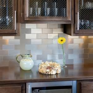 Backsplash Tile For Kitchen Peel And Stick Contemporary Kitchen Stainless Steel Self Adhesive Backsplash Tiles Diy Ideas 2015 Interior