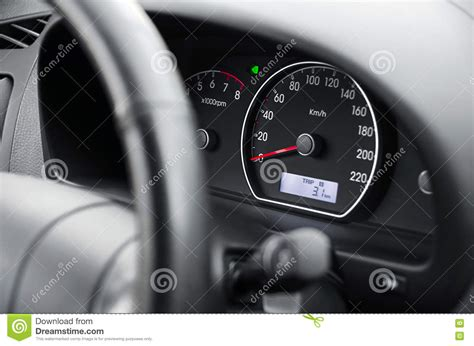 Car Dashboard Side View Stock Photo. Image Of Speed