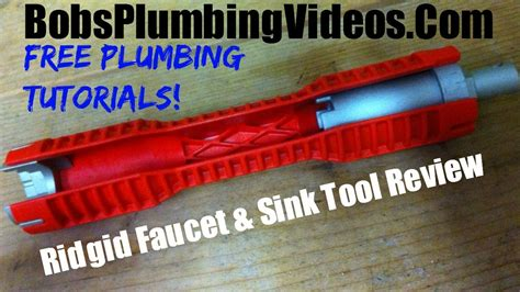 cool tool  ridgid faucet  sink wrench youtube