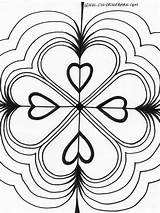 Kaleidoscope Coloring Pages Printable Hearts Triple Colouring Bing Heart Adult Drawings Powered Results Open sketch template