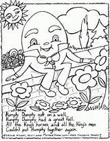 Humpty Dumpty Coloring Rhymes Nursery Rhyme Colouring Preschool Printable Mothergoose Jack Sheets Jill Crafts Colour Daycare Rhyming Sat Rain Away sketch template