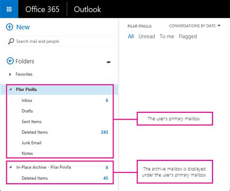 Office 365 Archive Mailbox by Archive Mailboxes In Exchange Exchange Help