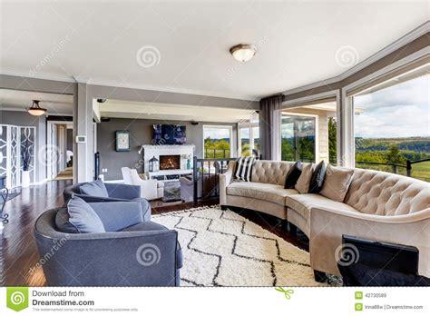 elegant living room interior  luxury house stock image