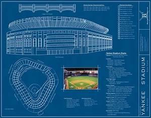 Yankee Stadium (Blueprints) Wall Mural - Contemporary ...