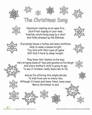 color the carol the song worksheet 128 | color carol christmas song holidays