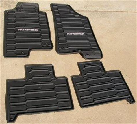 Hummer H3 Floor Mats 2007 by Hummer H3 All Weather Floor Mats Oem Hummer Forums
