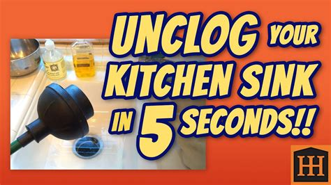 unclog kitchen sink   seconds youtube