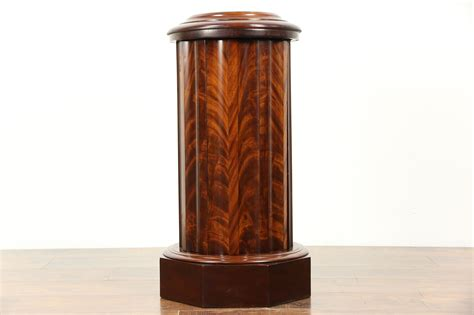 Sculpture Pedestal by Sold Antique 1870 Classical Column Cabinet Or