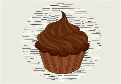 Muffin Vector Illustration Hand Drawn Cupcake Doodle