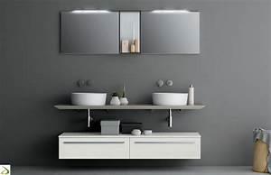 Bagno moderno con 2 lavandini Everett Arredo Design Online
