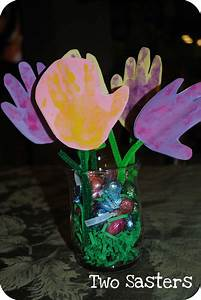 Easter Mother's Day Handprint Flowers Craft | Preschool ...