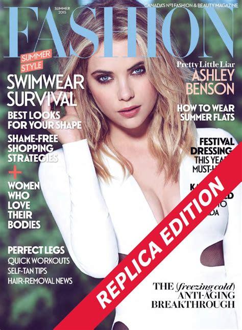 Ashley Benson At Fashion Magazine Canada Summer 2015