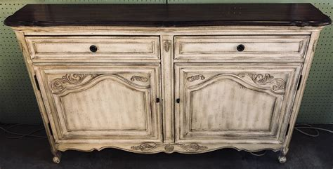 beige french style cabinetcredenza antique  art