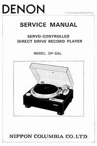 Denon Dp 59l Turntable System Service Manual Free Download
